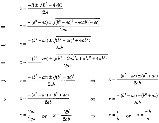 Quadratic Equations Class 10 Extra Questions Maths Chapter 4 with Solutions Answers 32