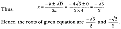 Quadratic Equations Class 10 Extra Questions Maths Chapter 4 with Solutions Answers 12