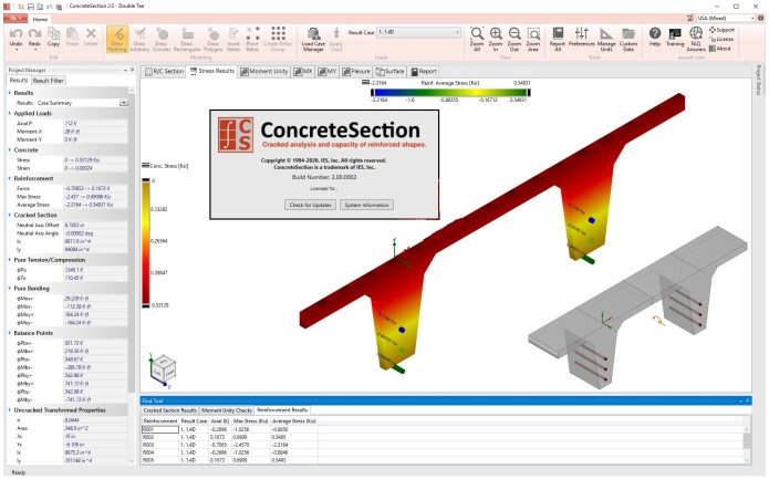 Working with IES ConcreteSection 2.00.0002 full license