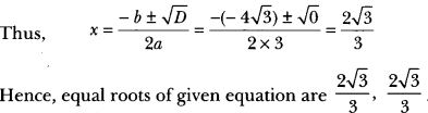 Quadratic Equations Class 10 Extra Questions Maths Chapter 4 with Solutions Answers 16