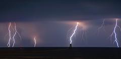 Lightning Panorama.  (Explored)