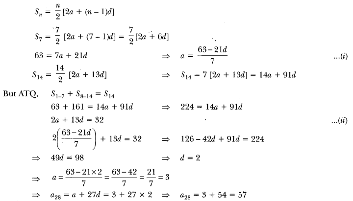 Arithmetic Progressions Class 10 Extra Questions Maths Chapter 5 with Solutions Answers 10