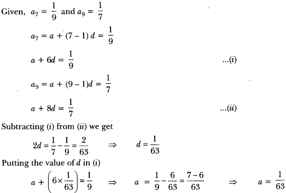 Arithmetic Progressions Class 10 Extra Questions Maths Chapter 5 with Solutions Answers 8