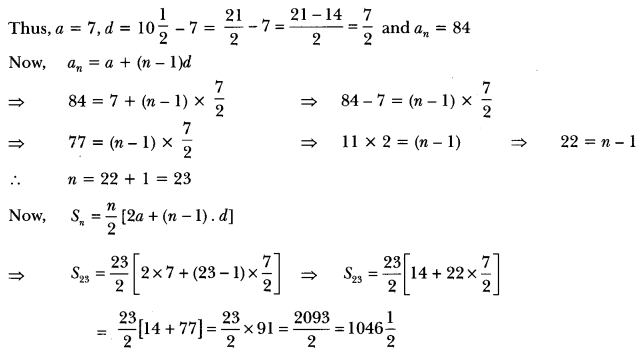Arithmetic Progressions Class 10 Extra Questions Maths Chapter 5 with Solutions Answers 5