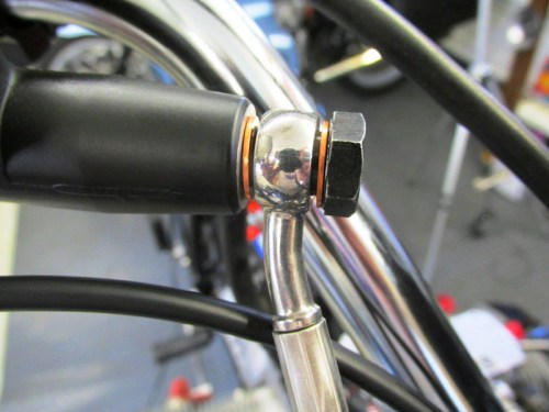 Front Master Cylinder Banjo Fitting Has A Copper Crush Washer On Each Face