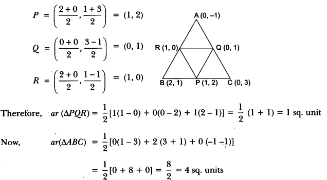 Coordinate Geometry Class 10 Extra Questions Maths Chapter 7 with Solutions Answers 54