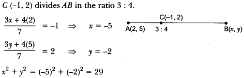 Coordinate Geometry Class 10 Extra Questions Maths Chapter 7 with Solutions Answers 51