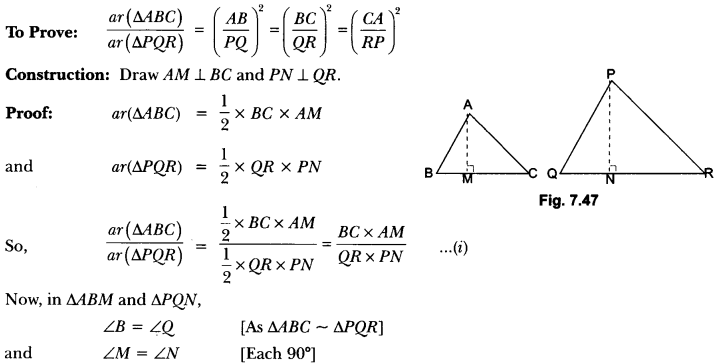 Triangles Class 10 Extra Questions Maths Chapter 6 with Solutions Answers 63
