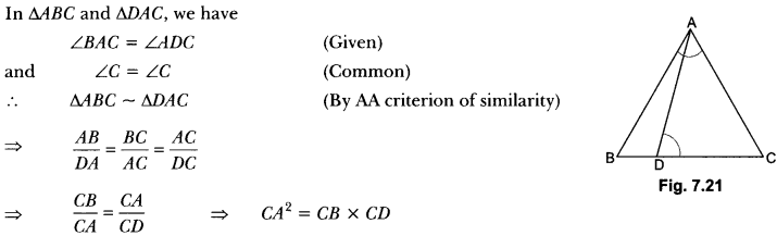 Triangles Class 10 Extra Questions Maths Chapter 6 with Solutions Answers 29