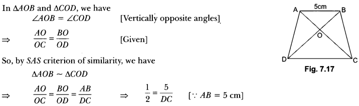 Triangles Class 10 Extra Questions Maths Chapter 6 with Solutions Answers 25