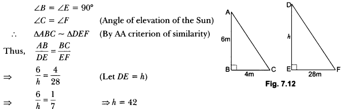 Triangles Class 10 Extra Questions Maths Chapter 6 with Solutions Answers 15