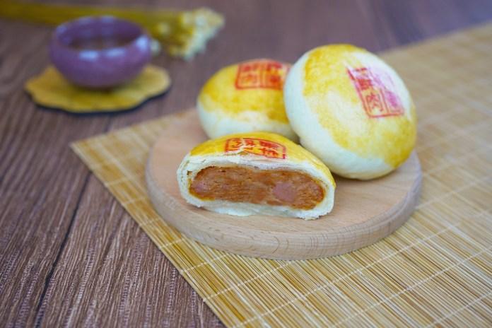 1. 梓園酥皮鮮肉月餅 Shanghainese Mooncake with Pork