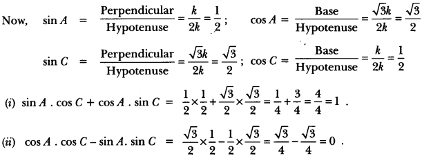 Introduction to Trigonometry Class 10 Extra Questions Maths Chapter 8 with Solutions Answers 49