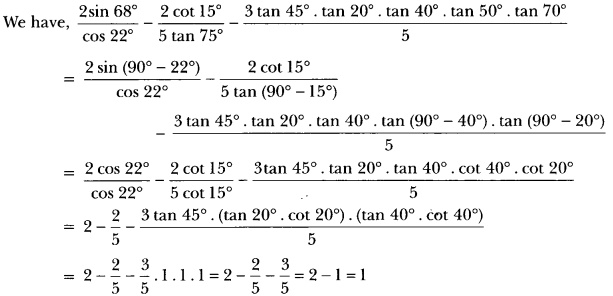 Introduction to Trigonometry Class 10 Extra Questions Maths Chapter 8 with Solutions Answers 12