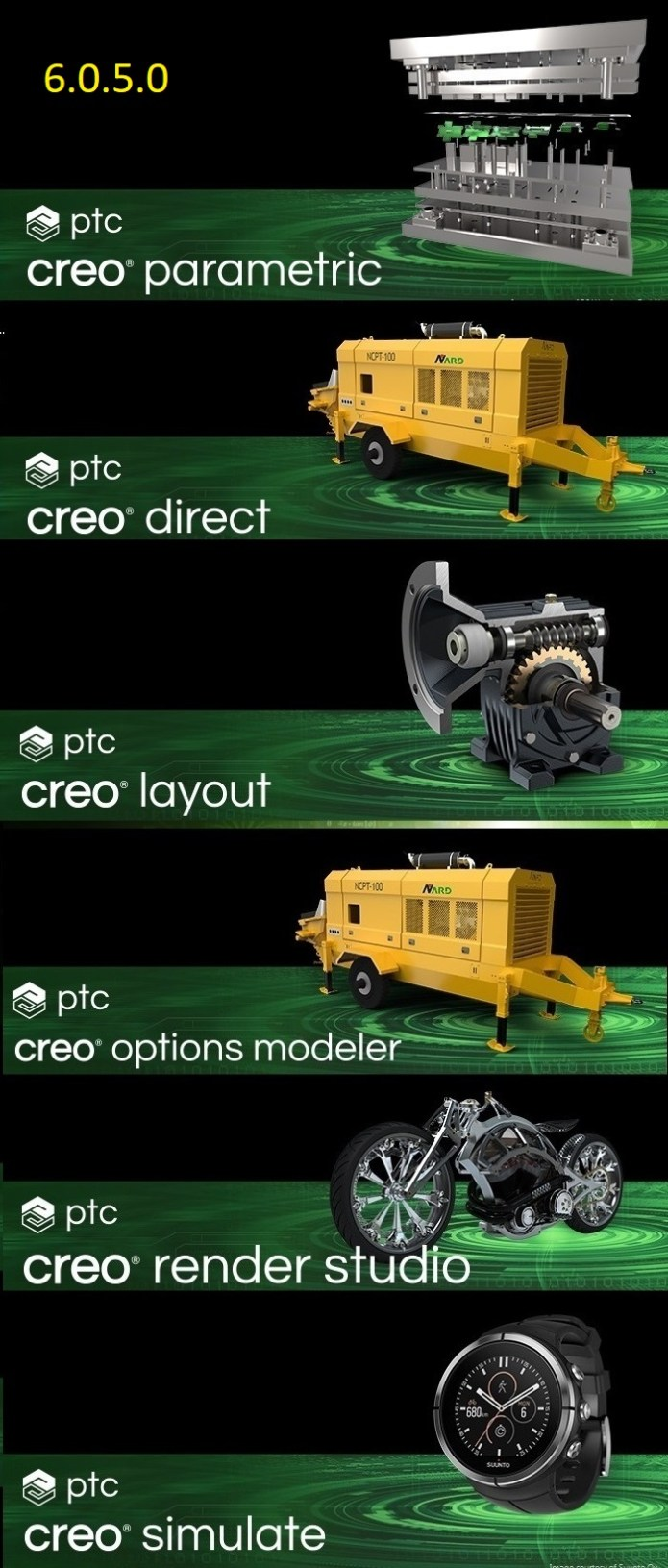 PTC Creo 6.0.5.0 win64 full license