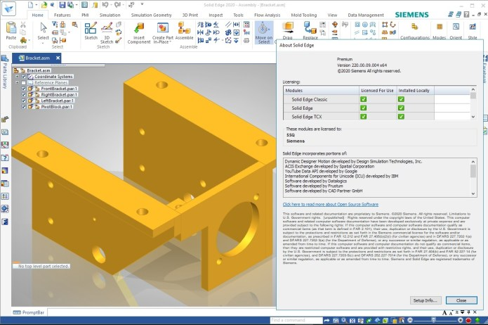 Working with Siemens Solid Edge 2020 MP09 full license