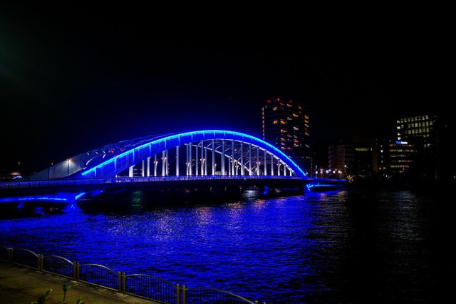 Eitaibashi blue lightup
