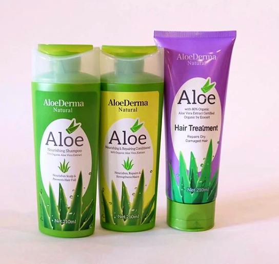 AloDerma shampoo, conditioner, hair treatment