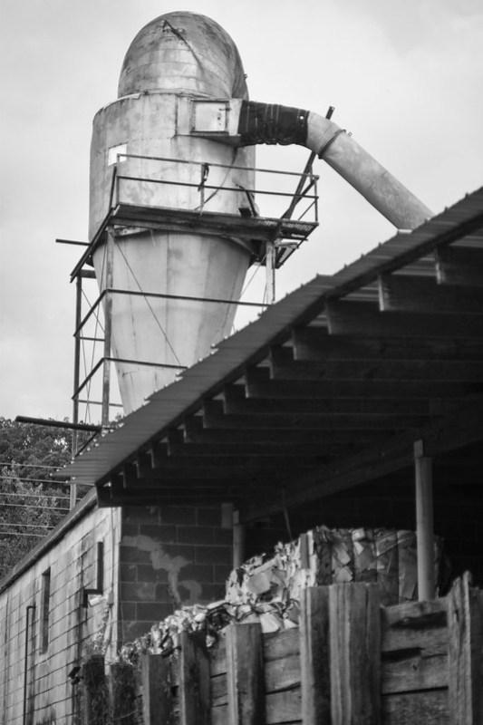 industrial architecture, tower, Asheville WastePaper Co., Asheville, NC, Nikon D3300, nikon nikkor 55mm f-3.5, 8.23.20