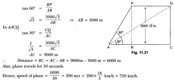 Some Applications of Trigonometry Class 10 Extra Questions Maths Chapter 9 with Solutions Answers 23