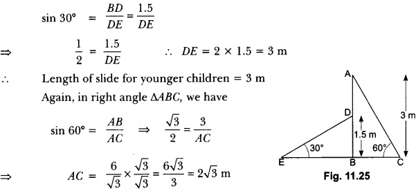 Some Applications of Trigonometry Class 10 Extra Questions Maths Chapter 9 with Solutions Answers 16