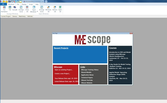 Working with MEscope 2019 Visual STN VT-950 full