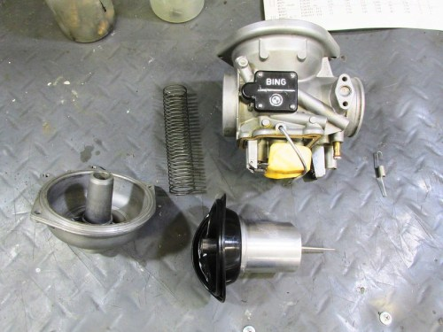Carburetor Top, Spring and Slide With Jet Needle