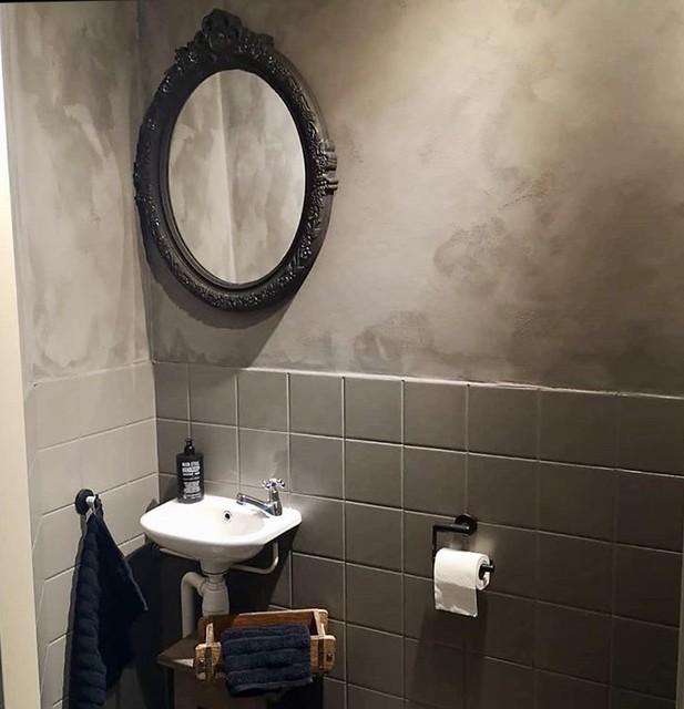 Barok spiegel landelijk toilet