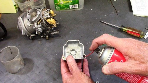 Spay Carburetor Cleaner In Choke Well And Verify It Flows Out The Bottom Passage