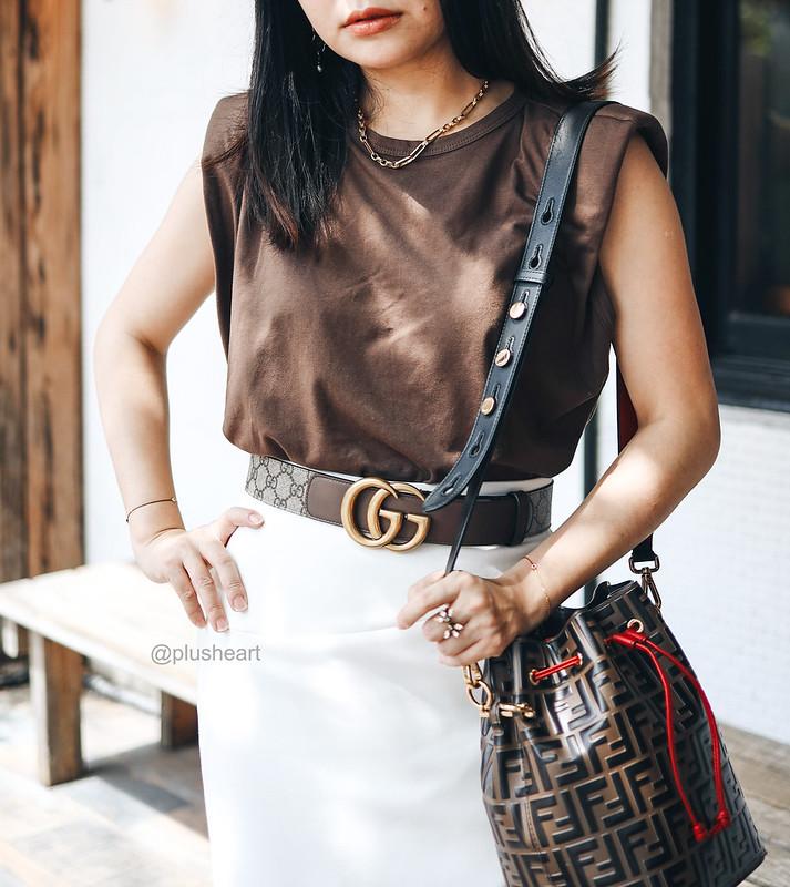 Gucci Marmont新款老花腰帶 + AMI新品實穿分享,Farfetch新品清單