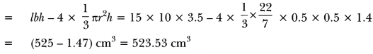 Surface Areas and Volumes Class 10 Extra Questions Maths Chapter 13 with Solutions Answers 70