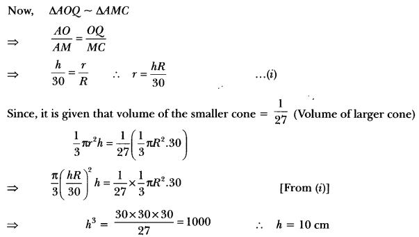 Surface Areas and Volumes Class 10 Extra Questions Maths Chapter 13 with Solutions Answers 95