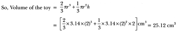 Surface Areas and Volumes Class 10 Extra Questions Maths Chapter 13 with Solutions Answers 67