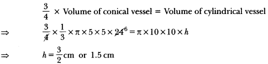 Surface Areas and Volumes Class 10 Extra Questions Maths Chapter 13 with Solutions Answers 46