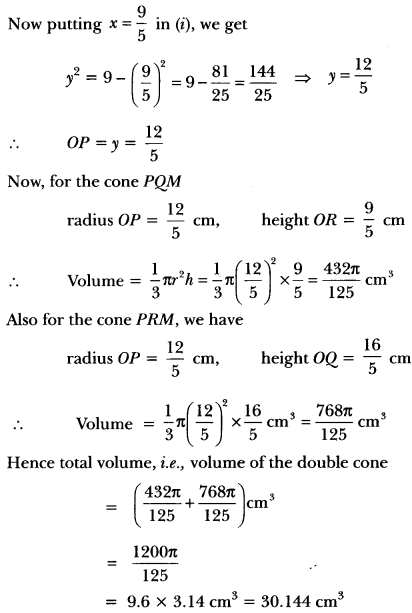 Surface Areas and Volumes Class 10 Extra Questions Maths Chapter 13 with Solutions Answers 100