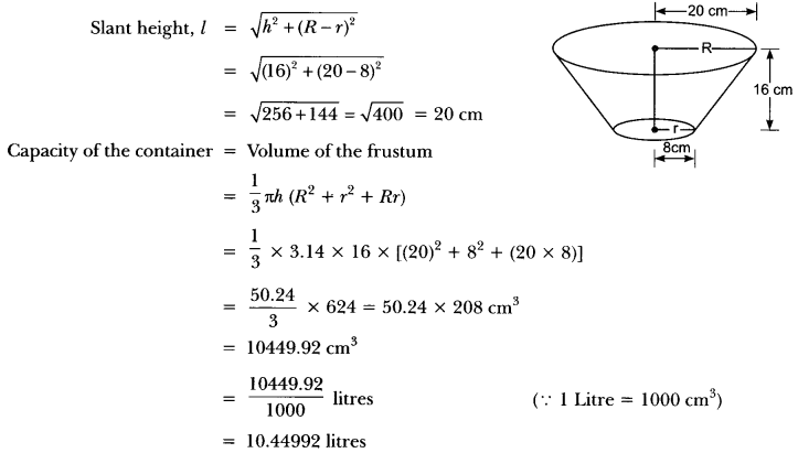 Surface Areas and Volumes Class 10 Extra Questions Maths Chapter 13 with Solutions Answers 78