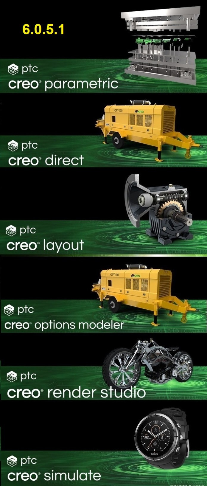 PTC Creo 6.0.5.1 x64 full license