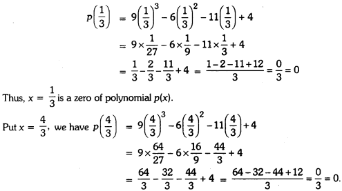 Polynomials Class 9 Extra Questions Maths Chapter 2 with Solutions Answers 7