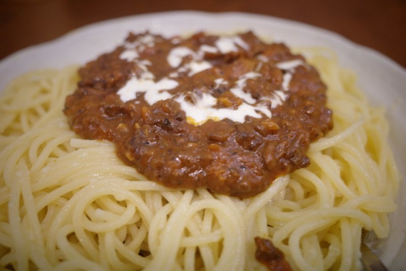 Mugiwara spaghetti meat sauce not costomized normal macro
