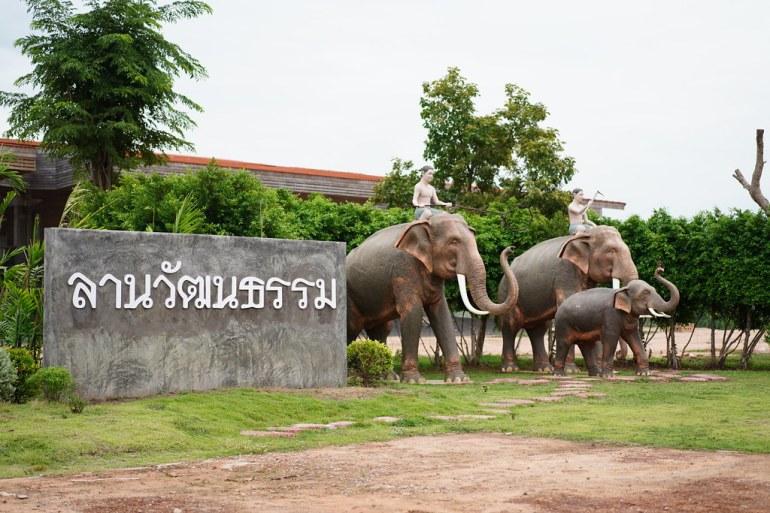 ลานวัฒนธรรม - โครงการโลกของช้าง