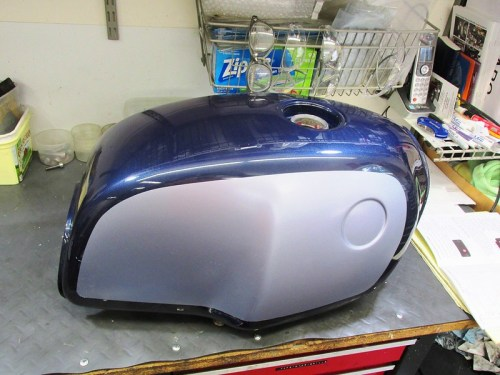 Gas Tank After Paint But Before Pin Striping