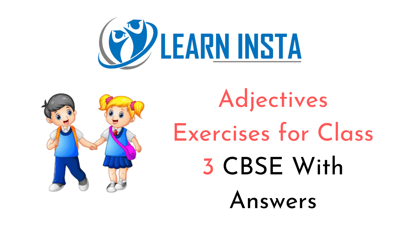 Exercise On Adjectives for Class 3 CBSE with Answers