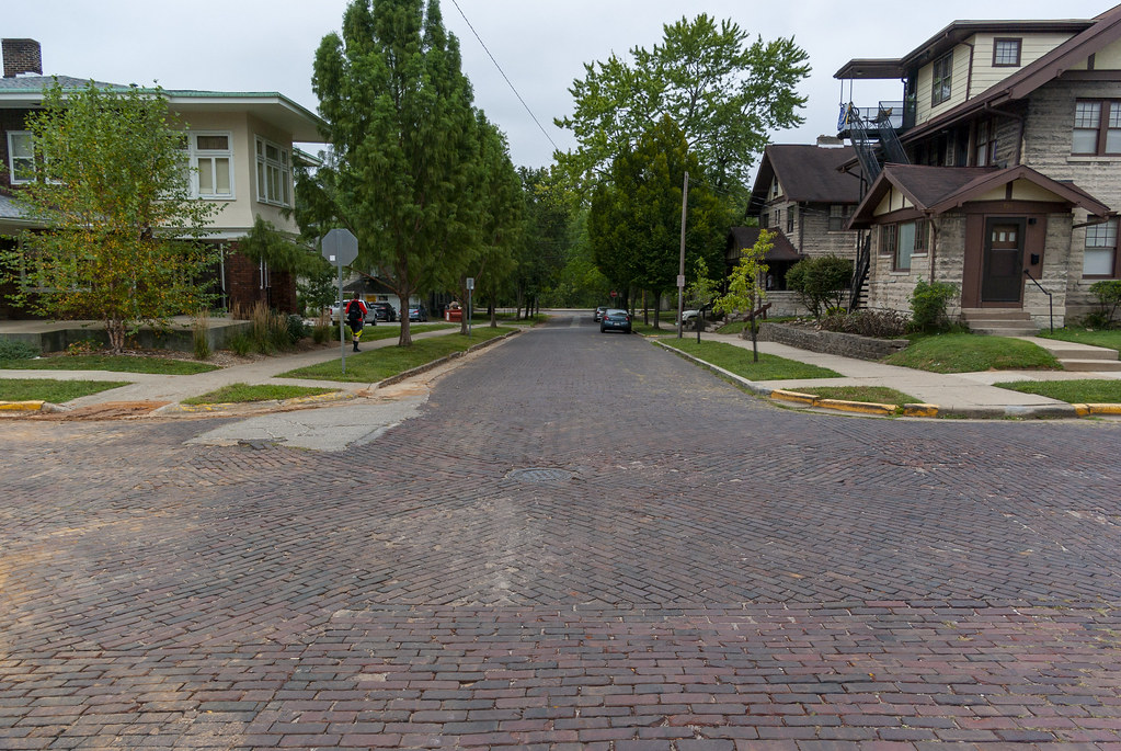 Brick streets of Bloomington