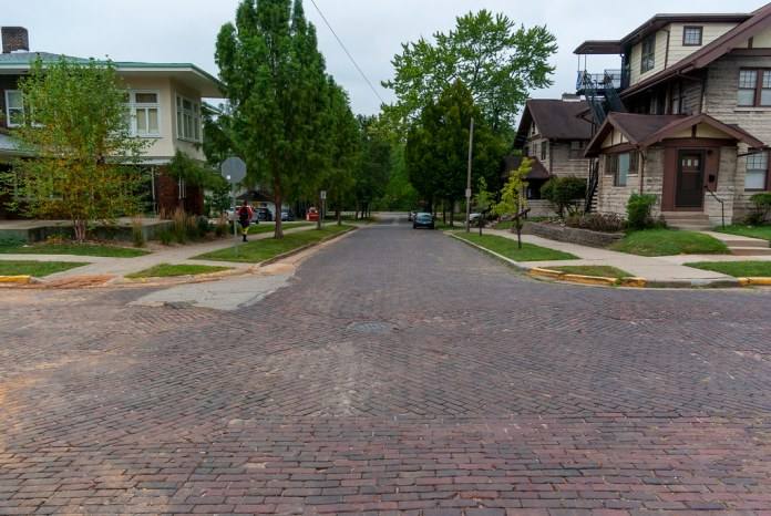 Brick streets of Bloomington