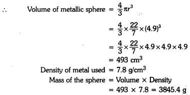Surface Areas and Volumes Class 9 Extra Questions Maths Chapter 13 with Solutions Answers 4