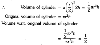 Surface Areas and Volumes Class 9 Extra Questions Maths Chapter 13 with Solutions Answers 10