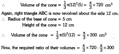 Surface Areas and Volumes Class 9 Extra Questions Maths Chapter 13 with Solutions Answers 13
