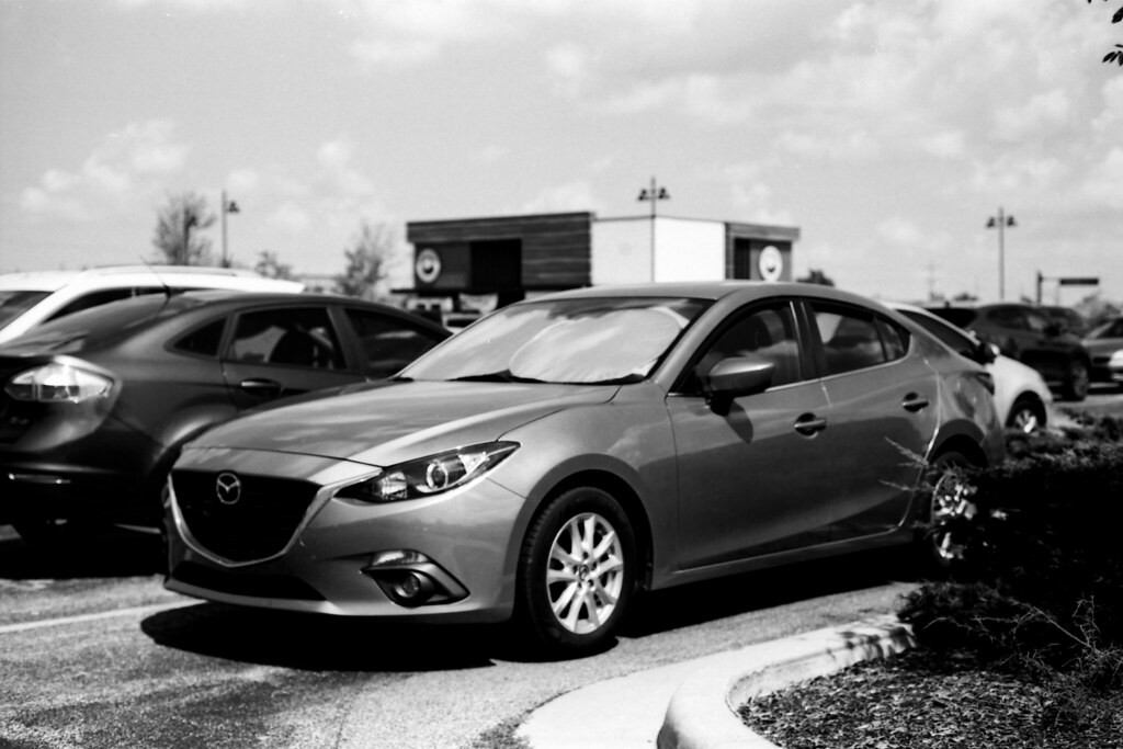 Mazda in the parking lot