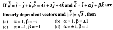 Maths MCQs for Class 12 with Answers Chapter 10 Vector Algebra Q8