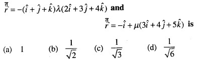 Maths MCQs for Class 12 with Answers Chapter 11 Three Dimensional Geometry Q37